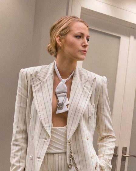 blake white suit close up