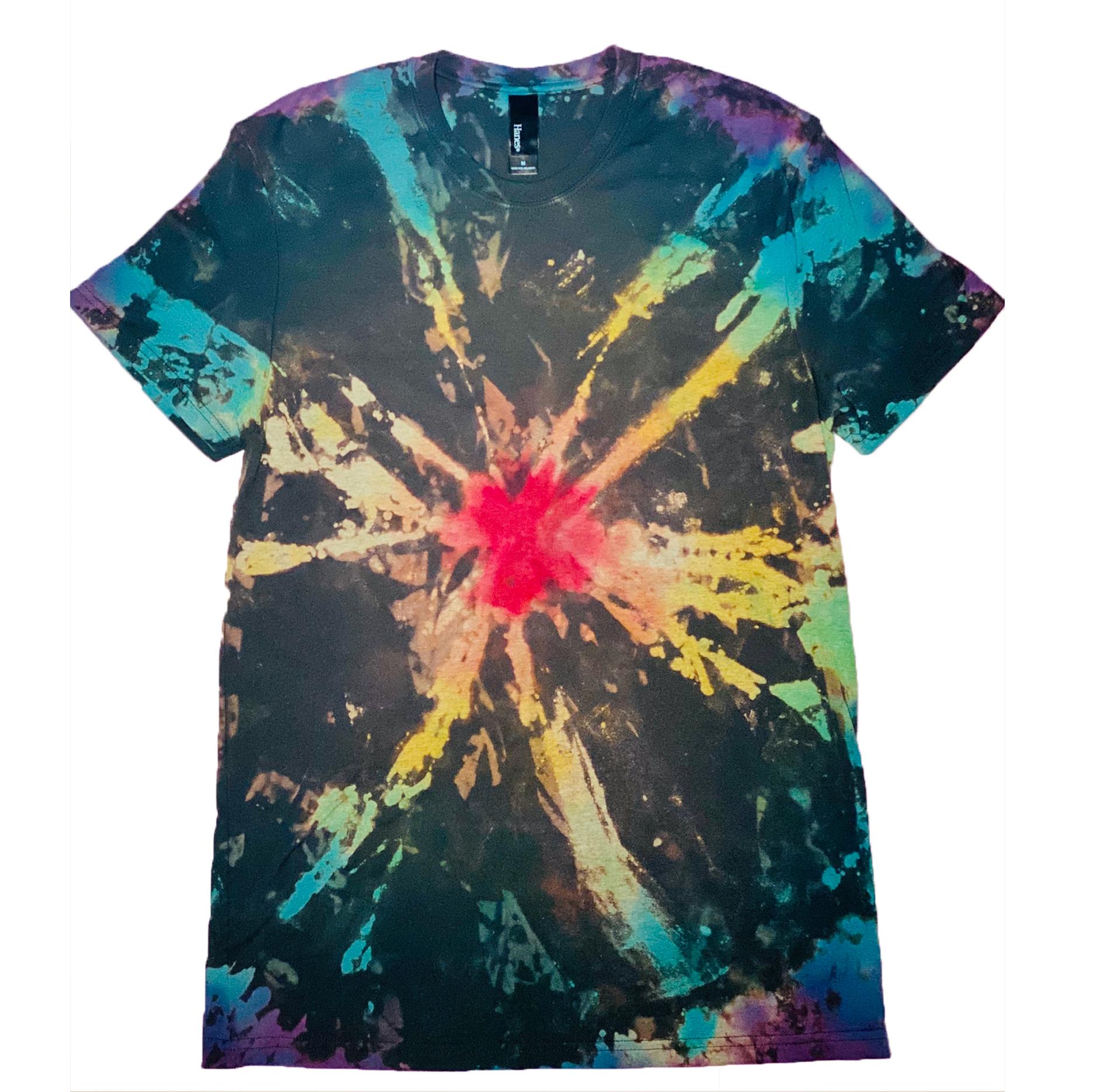 Reverse Tie Dye Long Sleeve Graphic Tshirt