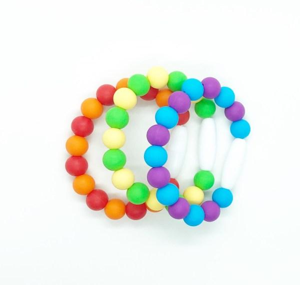 Rainbow Sensory Fidget Bracelet Set of Three