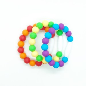 Rainbow Sensory Fidget Bracelet Set of Three
