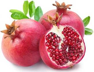 pomegranate seeds for black stains on lips