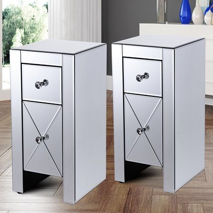 15 mirrored nightstand ideas for a glam