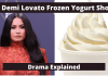 demi lovato, demi lovato annoying, demi lovato drama explored, demi lovato frozen yogurt, demi lovato frozen yogurt shop, demi lovato yogurt, demi lovato yougurt shop