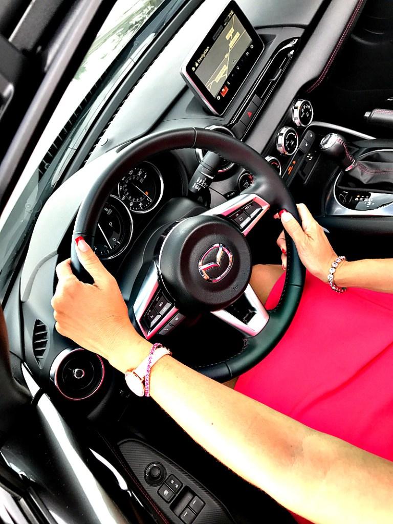 Interior of Mazda MX 5 RF