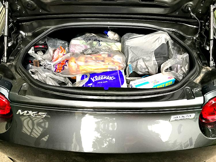 Mazda MX 5 RF trunk space
