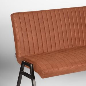 Eetkamerbank Matz Cognac Microvezel 145x62x86 cm Detail