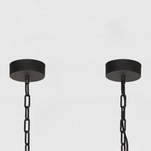 Hanglamp Tube Zwart Metaal 130x13x13 cm Plafondplaat