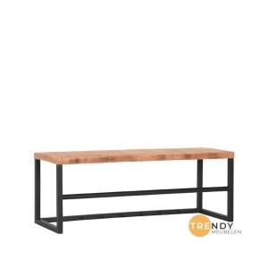 Kapstok Swing Rough Mangohout Zwart Metaal 80x30x30 cm Perspectief