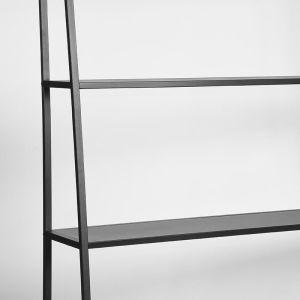 Opbergkast Fence Zwart Metaal 125x35x185 cm Detail