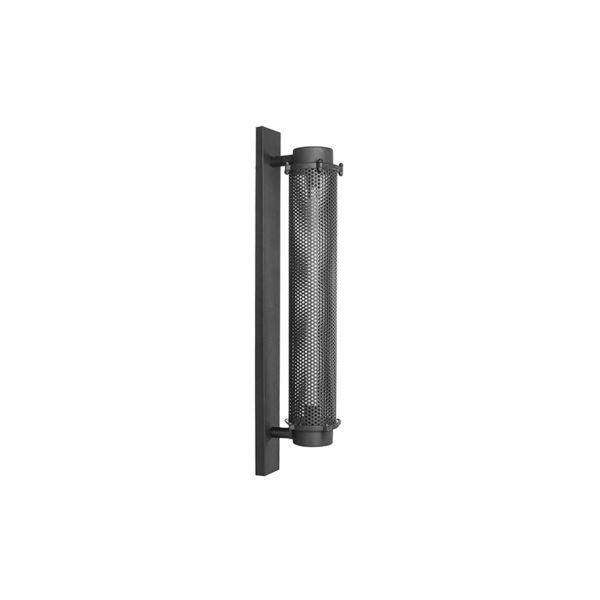 Wandlamp Tube Zwart Metaal 20x12x80 cm