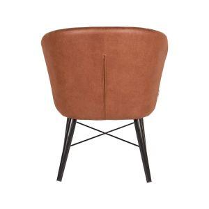 fauteuil wave cognac microvezel 68x63x79 cm achterkant
