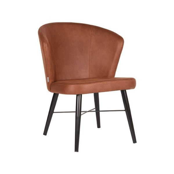fauteuil wave cognac microvezel 68x63x79 cm perspectief 2