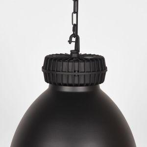 hanglamp heavy duty zwart metaal 50x50x40 detail