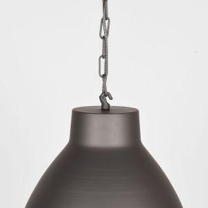 hanglamp industry burned steel metaal 42x42x37 cm detail