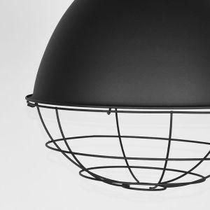 hanglamp korf zwart metaal touw 38x38x41 cm detail 3