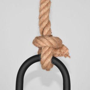 hanglamp korf zwart metaal touw 48x48x56 cm detail 2