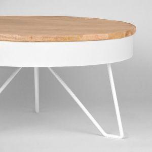 salontafel saran wit metaal 80x80x43 cm detail
