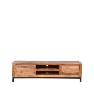 tv meubel ghent rough mangohout 160x45x45 cm voorkant