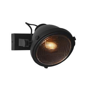 wandlamp tuk tuk zwart metaal 20x27x21 cm perspectief aan