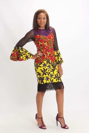 fringe ankara dress