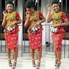 short ankara skirt and blouse