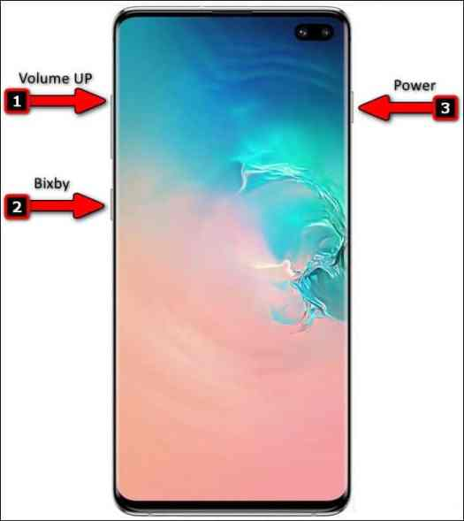 Reset the Samsung Galaxy S10 using the hardware button.