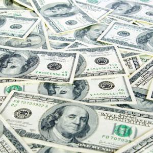 Scattered $100 Bills, Favorite Bank Stock