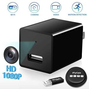 """Features: 1) 1080P HD VIDEO allows you to see exactly what is going on when you aren't around in your home, office, business, or wherever you need security. Motion detection for up to 2 hrs for 8GB and 6 hrs for 32GB. Camera will switch off if no motion after 3 minutes so no wasted recording time. 2) Covert: It might look like an ordinary USB wall charger, but the 1080P HD USB Wall Charger also has a Camera feature, which can record 1080P HD camera QUALITY. 3) Simple to use: camera is ready to go out of the box ( NO Batteries Needed ) 5) Whether you need to monitor your home, business, or anywhere in between, camera blends in perfectly, as chargers are so common, it won't look out of the ordinary no matter where it's placed. (6) Recorded videos can be played back on PC or Macs. (7) US/EU plug For other co (8) WiFi Range: 5M (9) Remote Monitoring Distance: Unlimited (10) Size: 72mm x 128mm/2.83"""" x 5.04"""" (Approx.) Notes: Due to the light and screen setting difference, the item's color may be slightly different from the pictures. Please allow slight dimension difference due to different manual measurement. Package Includes: 1 x Charger Camera 1 x User Manual"""