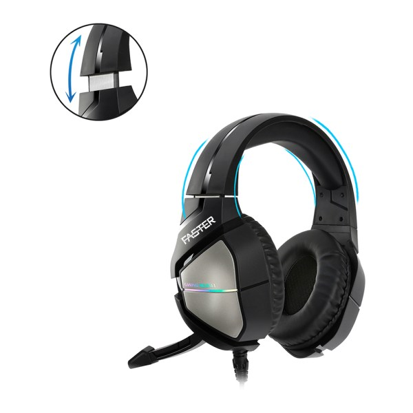 FASTER Blubolt BG-200 Surrounding Sound Gaming Headset with Noise Cancelling Microphone for PC and Mobile