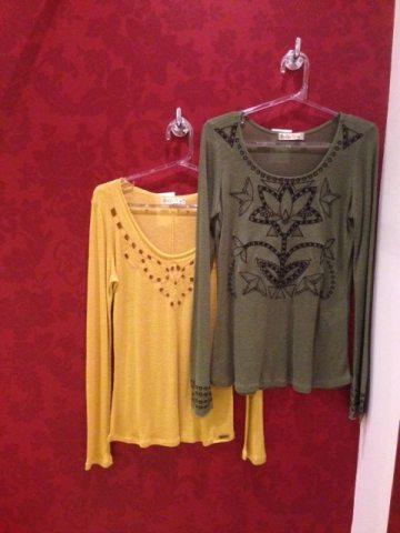 Trendy Store_Blusas verde musco e amarelo