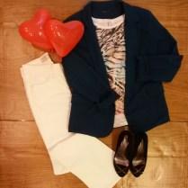 Trendy Store_Blazer, blusa estampada e calça resinada