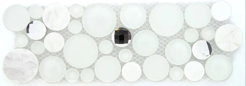 TS866155 MULTI SIZE CIRCLE MOSAIC (sold per sheet) (4x11.25 each sheet)