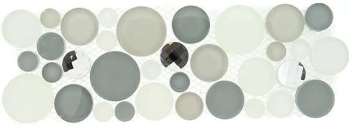 TS866156 MULTI SIZE CIRCLE MOSAIC (sold per sheet) (4x11.25 each sheet)
