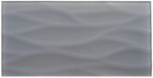 TS866453 GRIO WAVEY 9X18 GLASS TILE