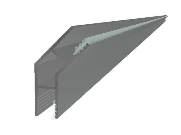 Hjørneprofil 135° for 6mm glass