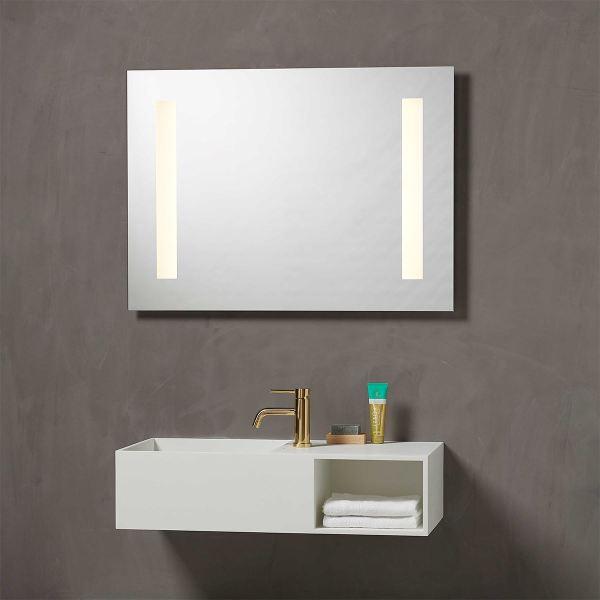 Speil med integrert Lys 90 cm