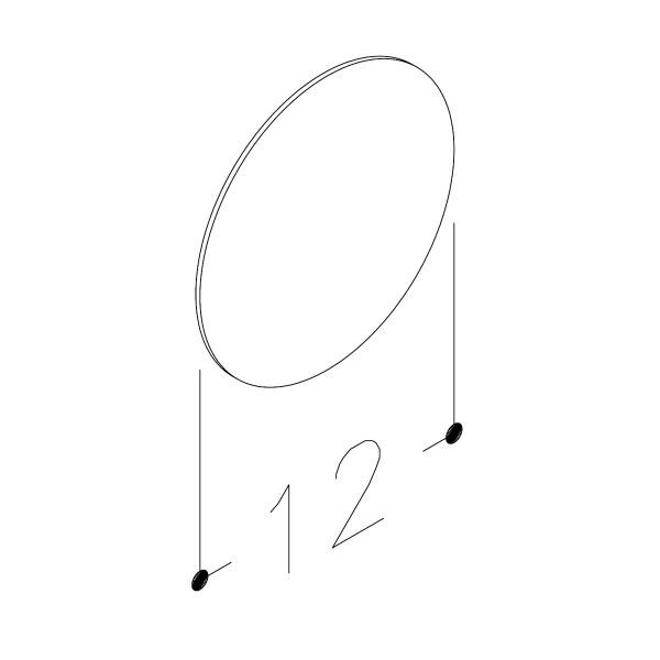 SpeilmedforstørrelseglassØ12cm