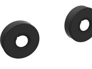 Dekkskive sort matt Ø75x20mm
