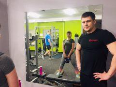 Тренировка с Кристиной