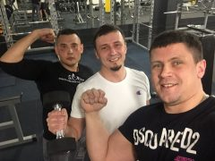 Тренировка с Никитой и Ромой