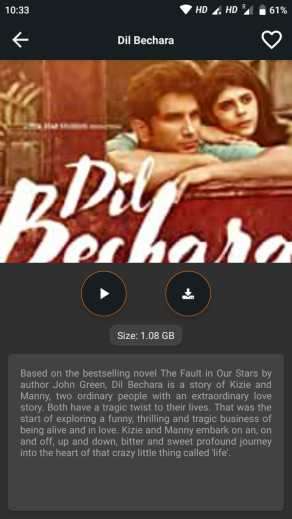 Watch Movie Online Dil Bechara