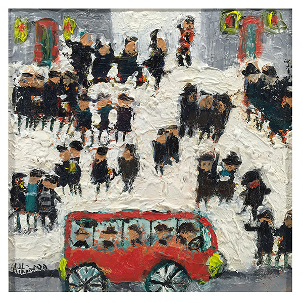 Sue Atkinson Paintings The Red Bus Trent Art
