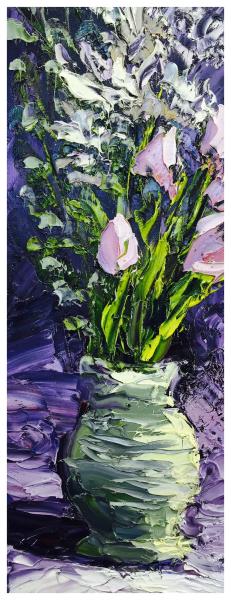 Tulips in a Vase Still Life, Colin Halliday