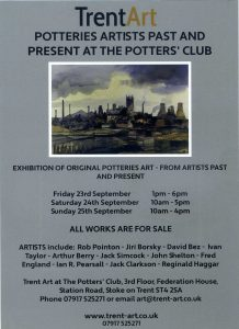 Potteries Past and Present Exhibition 23rd - 25th September 2016