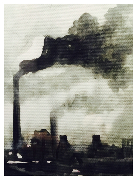 Industrial Scene Pen and Wash, William Atherton