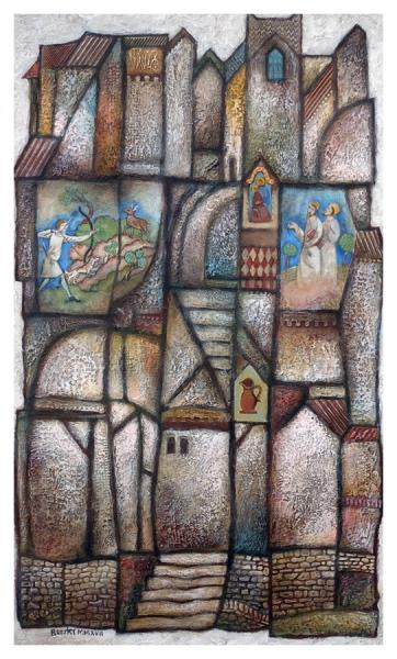 Borsky, Jiri (1945 – ) Medieval Houses - Trent Art