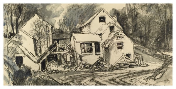 Haggar, Reginald George (1905–1988) – Mill of Many Roofs Moddershall - Trent Art