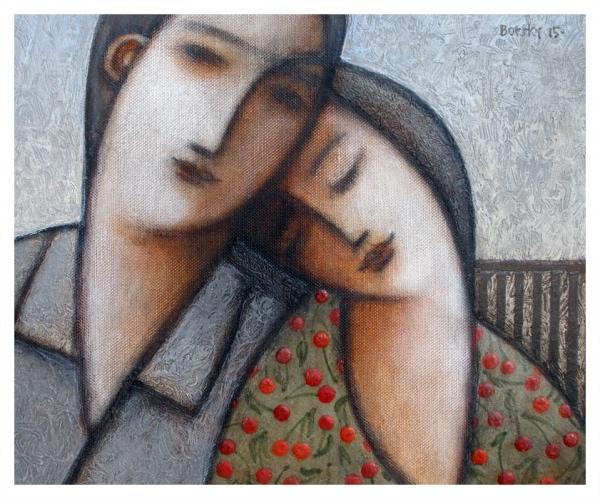 Borsky, Jiri (1945 – ) Contented Couple - Trent Art