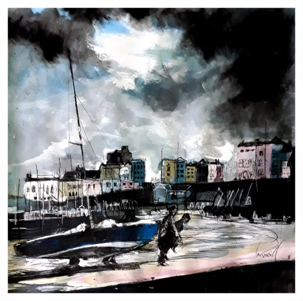 Pearsall, Ian R. (1967 – ) Bringing the boats in (Tenby) - Trent Art