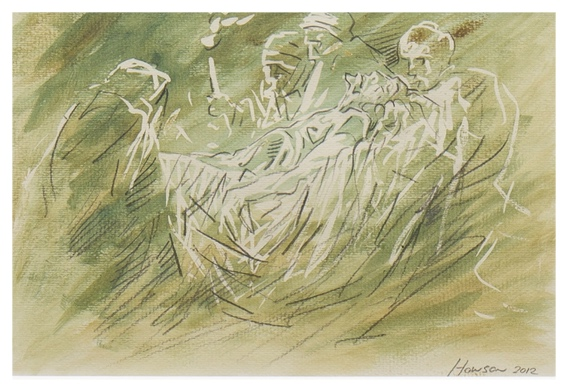 Carried to the Tomb, Peter Howson